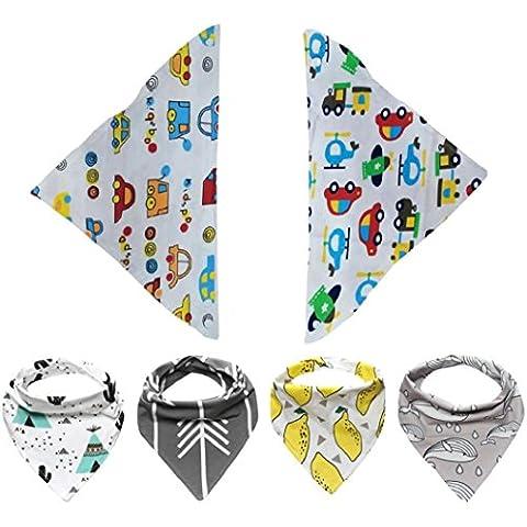 Koly 6pcs impermeable Toalla Pañuelo para Bebés y Niños triángulo de los baberos (D)