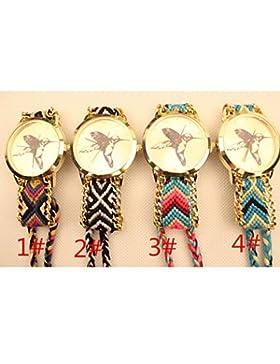 Schöne Uhren, Mode Damen Kolibri nationalen Weben Südkorea-Kette diy Uhr