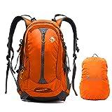 30L Wasserdicht WanderruJungleking cksack Camping Rucksack mit Regenschutz Laufen Radfahren im Freien CY-3128 (Orange)