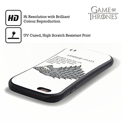 Ufficiale HBO Game Of Thrones Drago Dracarys Grafiche Case Ibrida per Apple iPhone 7 Plus / 8 Plus Venti Bianchi