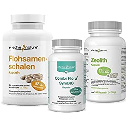 effective nature SIMPLE CLEAN DETOX Darmreinigung und Entgiftungskur mit Zeolith Detox, Combi Flora SymBIO und Flohsamenschalen