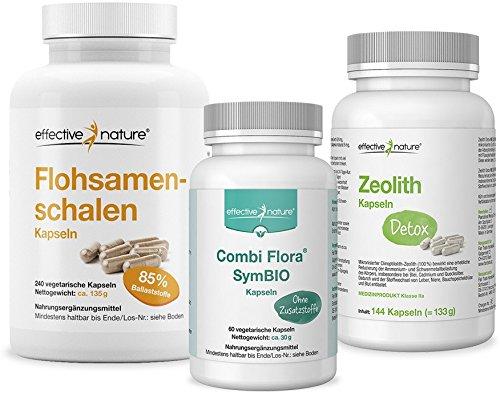 effective nature SIMPLE CLEAN Darmreinigung und Entgiftungskur mit Zeolith Detox, Combi Flora SymBIO und Flohsamenschalen