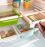 Bluelover Plastic Küche Kühlschrank Kühlschrank Gefrierschrank Storage Rack Shelf Halter Küchenorganisation Weiß - 2