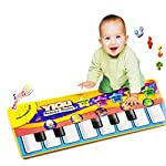 Piano Mat, Multi-function Musical Carpet Baby Toddler Activity Gym Play Mats, Fat.chot Baby Early Education Music Piano…