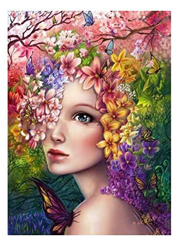CJGD DIY 5d Diamant malerei Kits Bohren voll, Blume Kunst, mädchen, Dame Charakter Strass kristall Stickerei Bilder kreuzstich für hauptwanddekoration, 30 * 40 cm