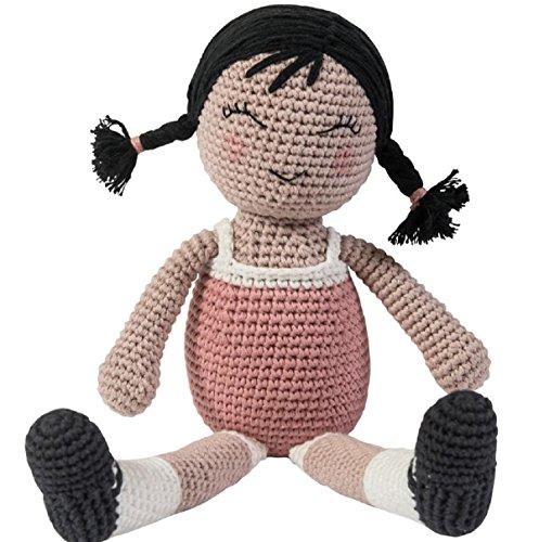 Sebra - Häkel-Puppe - Li - Baumwolle - von Hand gefertigt - Höhe 30 cm