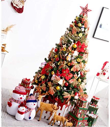 CWSY 5 Fuß (1,5 m) Pre-Lit Scandinavian Blue Spruce Weihnachtsbaum mit 200 warmweiße LED-Leuchten Tannenzapfen & Beeren mit Easy Build-Ausstellfenster Branchen,2.4m -