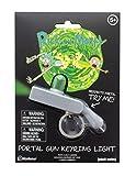 Paladone Rick & Morty Gun Schlüsselanhänger mit Taschenlampe, neuartiges Licht, das Mini-Portale schafft, Grün