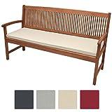 Beautissu Cuscino per panche Base BK 180x48x5cm lungo e comodo per sedili di panche da giardino balcone terrazza, beige