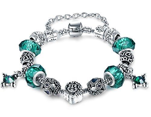 vintage-europea-caliente-estilo-de-moda-verde-cristal-de-murano-charm-corazon-cuentas-chapado-en-pla