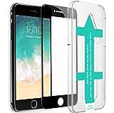 XeloTech 3D/4D Fullcover Panzerglas für iPhone 8/7 mit Schablone für perfekte Positionierung - Schützt komplettes Display - Full Cover Vollglas (Schwarz)