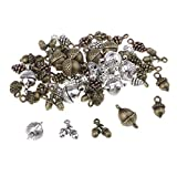 MagiDeal 50 Stück Legierung Weihnachten Tannenzapfen Form Mini Anhänger Charms für Schmuckerstellung Halsband Halskette