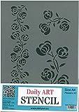 Tägliche Art Schablonen für Basteln und Malen, Größe A4 Flowers #3
