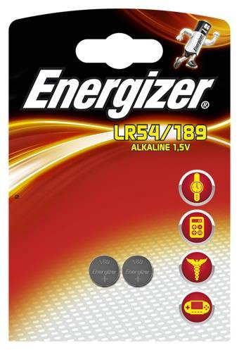 ENERGIZER Energizer Alkaline LR54 Button Cell Battery 1.5V Ref LR54 189 PIP2 [Pack 2]