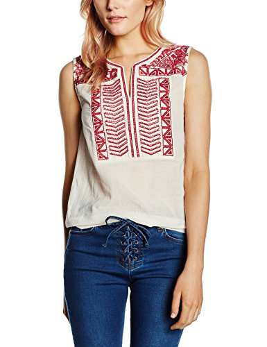 SEE U SOON 5112118, Top Donna, Écru (Off White/Pu), 42