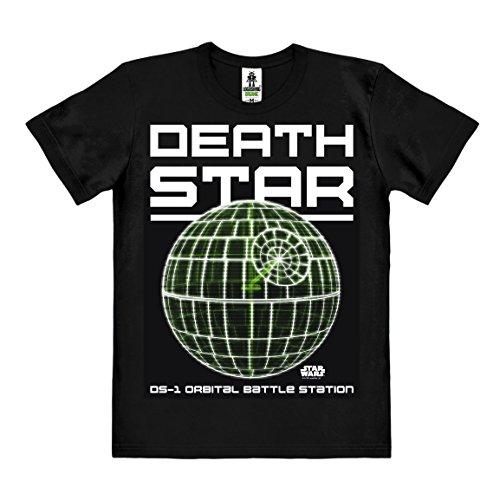 Star wars - rogue one - death star t-shirt - maglietta organico - nero - design originale concesso su licenza - logoshirt, taglia m