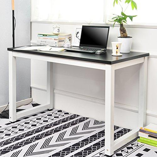 Merax PC Tisch Computertisch Schreibtisch Büro Tisch Bürotisch Arbeitstisch Officetisch PC-Tisch Esstisch für Zuhause Büro Schlafzimmer Rleichterte Montage Office Tisch 120 x 60 x 75cm (Schwarz) - - Schlafzimmer-büro-tisch