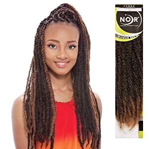 Synthetic Hair Braids Janet Collection Noir Afro Marley Braid (Twist Braid) (M1B/30) by Janet Collection