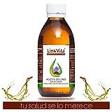 Aceite de Lino Bio Virgen de LinoVita SIN FILTRAR, - 1ª Presión en frío 100% PURO, SIN AMARGOR, REFRIGERADO y CRUDO, obtenido mediante DECANTACIÓN - 1000ml.