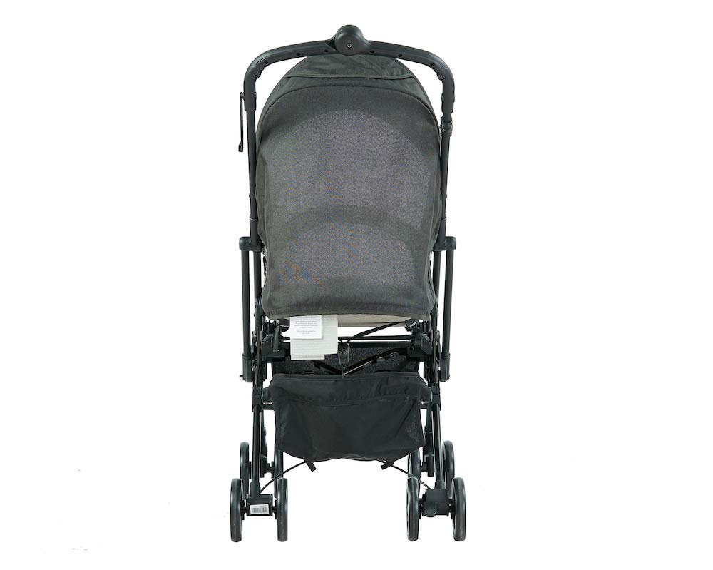 Roma Capsule² Compact Airplane Travel Buggy from Newborn + Rain Cover, Insect Net and Travel Bag, Only 5.6 kgs - Grey with a Black Chassis Roma Compact lie-back stroller - suitable from newborn to 15 kgs Includes rain cover, insect net, travel bag Locked and swivel wheels, shopping basket, 5