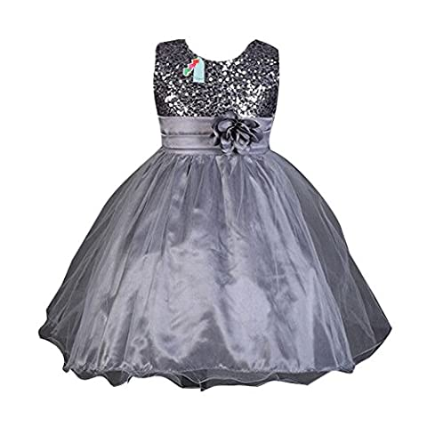 Summer Baby Girls Flower Sans manches Princess Pageant Dress pour