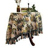 Amerikanischer Rundtisch Tischtuch Kleine Runde Tischdecke Tischdecke Stoff Runde Baumwolle und Leinen Kleine frische Tischdecke Haushalt Tischset Benutzerdefinierte (größe : 160cm)