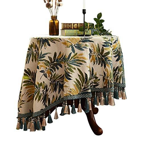 Amerikanischer Rundtisch Tischtuch Kleine Runde Tischdecke Tischdecke Stoff Runde Baumwolle und...