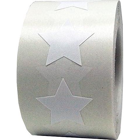 InStockLabels Stella Forma Adesivo Adesivi, 1,91 cm (0,75 Pollice) Largo Etichette, 500 Totale Adesivi, (Adesivo Star Shapes)
