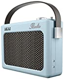 Akai A60015BLN Vintage Retro Radio AM/FM, Alarm Clock with LCD Screen and Snooze