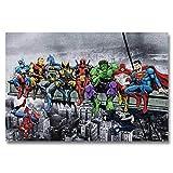 (11.8x15.8inch)5D DIY Diamant Broderie'Superheros Marvel' Point De Croix Complet...