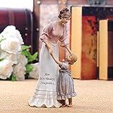 GiiWii Mutter Und Tochter Figurine, Kleine Statue Resin Statue Mini Ornament Modern Creative Collectibles Art Deco Für Home Wohnzimmer Schlafzimmer Mädchen Jungen Geburtstag Geschenke