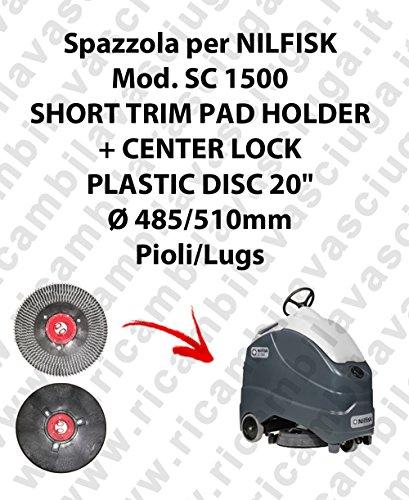 Short Trim Pad Holder + Centerlock für Bodenwischer Nilfisk Mod. SC 1500 -