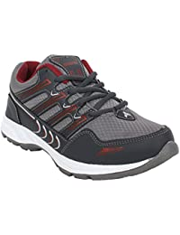 Arexon Men's Synthetic Grey Colored Sport Shoe( Men's Running Shoe, Breathable Sports Shoe, High Grip Sports Shoe...