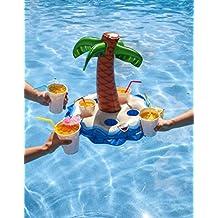 BigMouth Inc inflable Palm Tree Multi bebida flotador