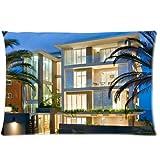 Appartement de luxe arbres Housse d'oreiller zippée 50,8x 76,2cm...