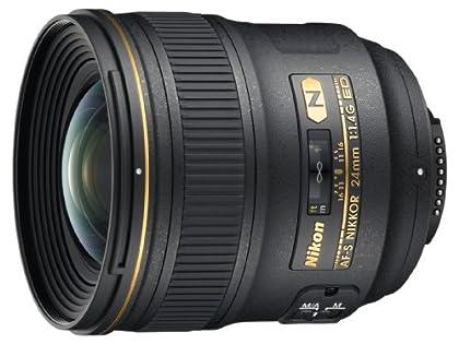 Nikon AF-S 24MM F1.4G ED - Objetivo para montura F (distancia focal 24mm, apertura f/1.4) negro