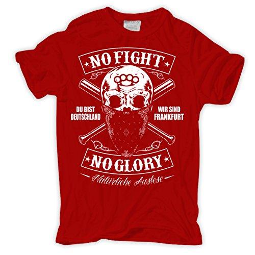 Männer und Herren T-Shirt Du bist Deutschland - Wir sind Frankfurt Rot