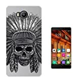 C0500 - Indian Skull Headdress Design Elephone P9000 Lite