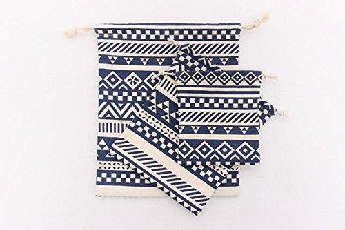 Lumanuby Drawstring Bag Set 3 Größe kordelzug beutel klein für Schlüssel / Bücher/ Hygieneartikel /Mobiltelefone, ideal für den täglichen Gebrauch Reisen Wandern Farbe E
