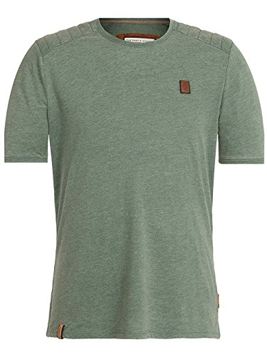 Naketano Male T-Shirt Borgward V heritage pine green melan