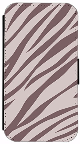 Flip Cover für Apple iPhone 6 / 6S (4,7 Zoll) Design 322 Zebra Streifen Tiger Muster Blau Schwarz Hülle aus Kunst-Leder Handytasche Etui Schutzhülle Case Wallet Buchflip mit Bild (322) 337