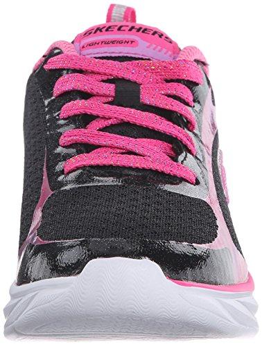 Skechers - Pepsters, Scarpe sportive Bambina Noir (Noir/Rose)