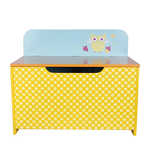 Labebe Wooden Kid Furniture 2-en-1 Toy Box & Bench Chair, perfecto para...