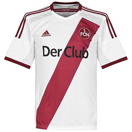 adidas Herren Spieler-Auswärtstrikot 1. FC Nürnberg Replica Trikot, White/Collegiate Burgundy, S