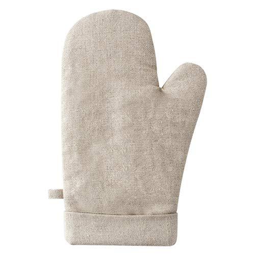 Ywlanlantrading Handschuh Verbrühungssichere Handschuhe Baumwolle und Leinen Verdickung Rutschfeste Hochtemperatur Ofen Dampfgarer Home Kitchen Essential (Color : Five Pair-Beige, Size : L) (Home Ofen)