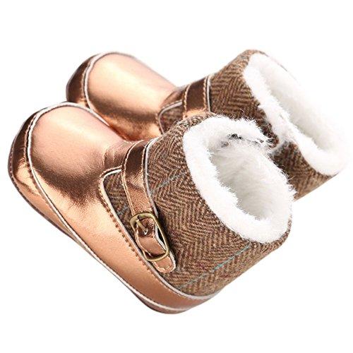ROPALIA Baby M?dchen Winter Thicken Pl¨¹sch Schnee Stiefel Gold