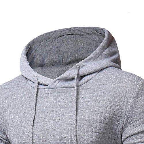 Omiky® Männer Langarm Hoodie Kapuzen Sweatshirt Tops Jacken Mantel Outwear Grau