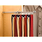 Rev-A-Shelf - CTR-12-CR - 12 in. Chrome Pull-Out Tie/Scarf Rack