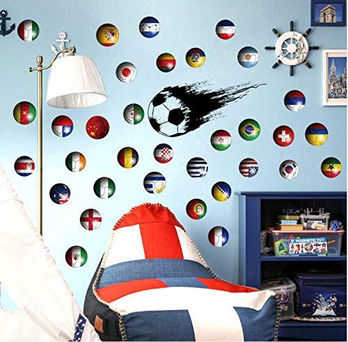 r Fußbälle Wandaufkleber Sport Tapeten Land Zeichen Home Decor 3D Vinyl DIY Wanddekoration Bälle Aufkleber Für Kinderzimmer ()