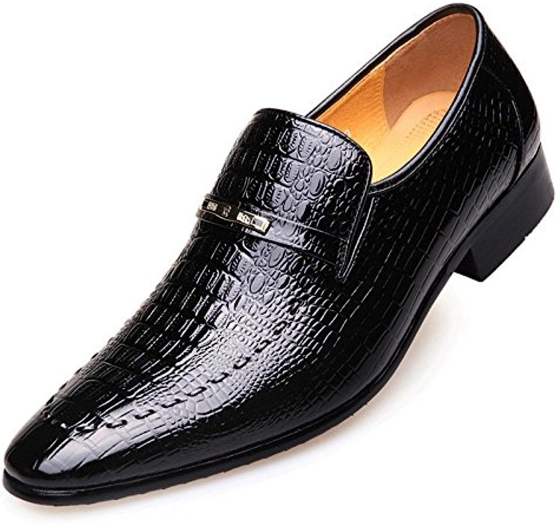LYZGF Männer Gentleman Business Casual Arbeit Atmungsaktiv Hochzeit Lederschuhe